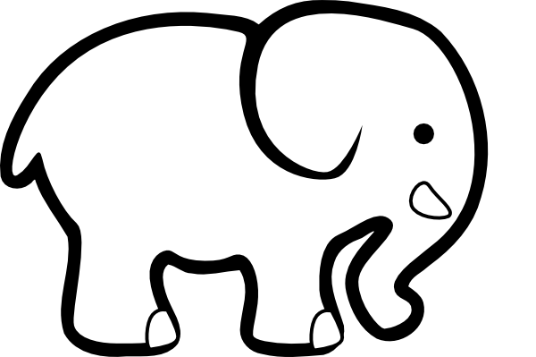 Elephant Head Clipart Black And White | Clipart Panda - Free ...