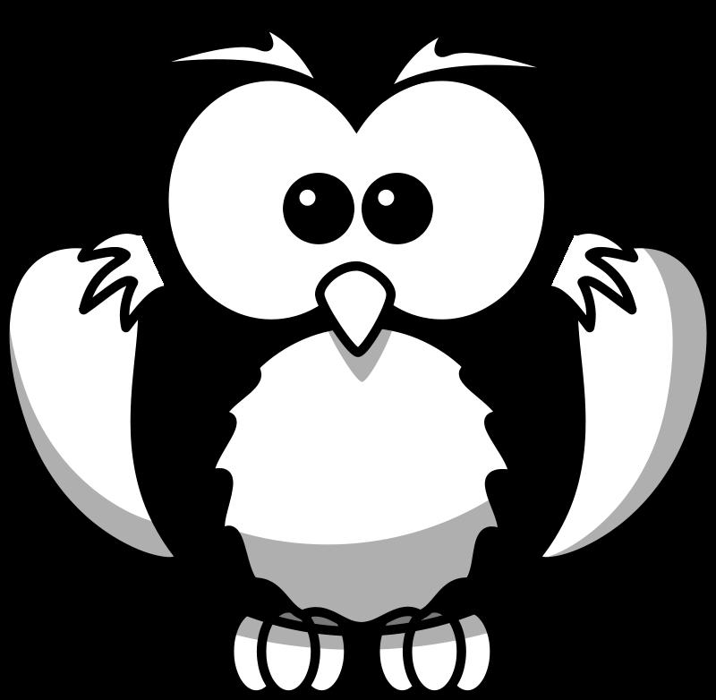 Snowy owl clip art for Cartoon owl sketch
