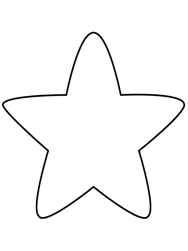 Christmas Tree Star Coloring Page