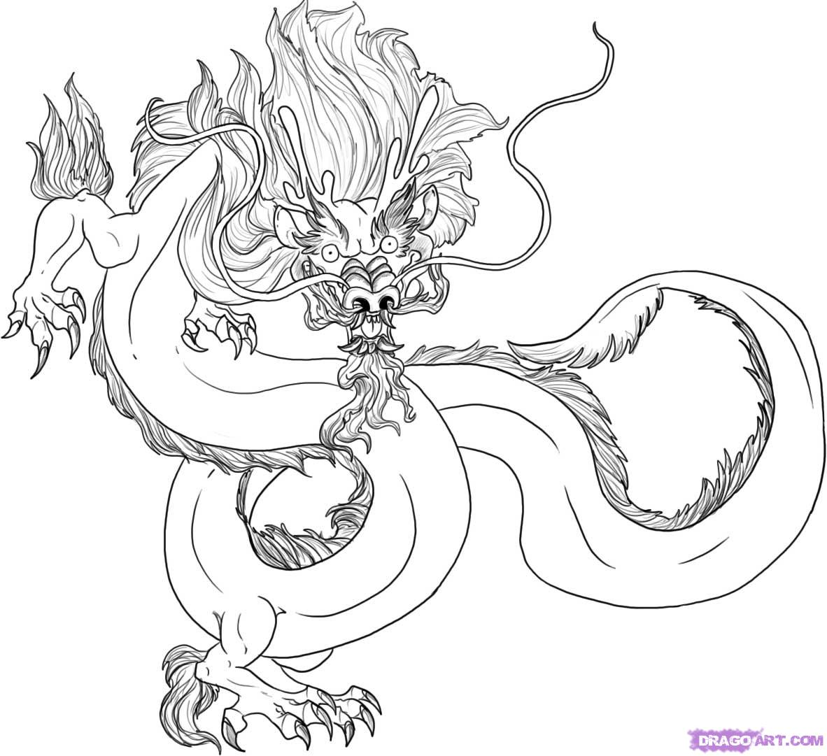 ColoringPages: Simple and easy Dragon Coloring Pages Free ... | 1081x1182