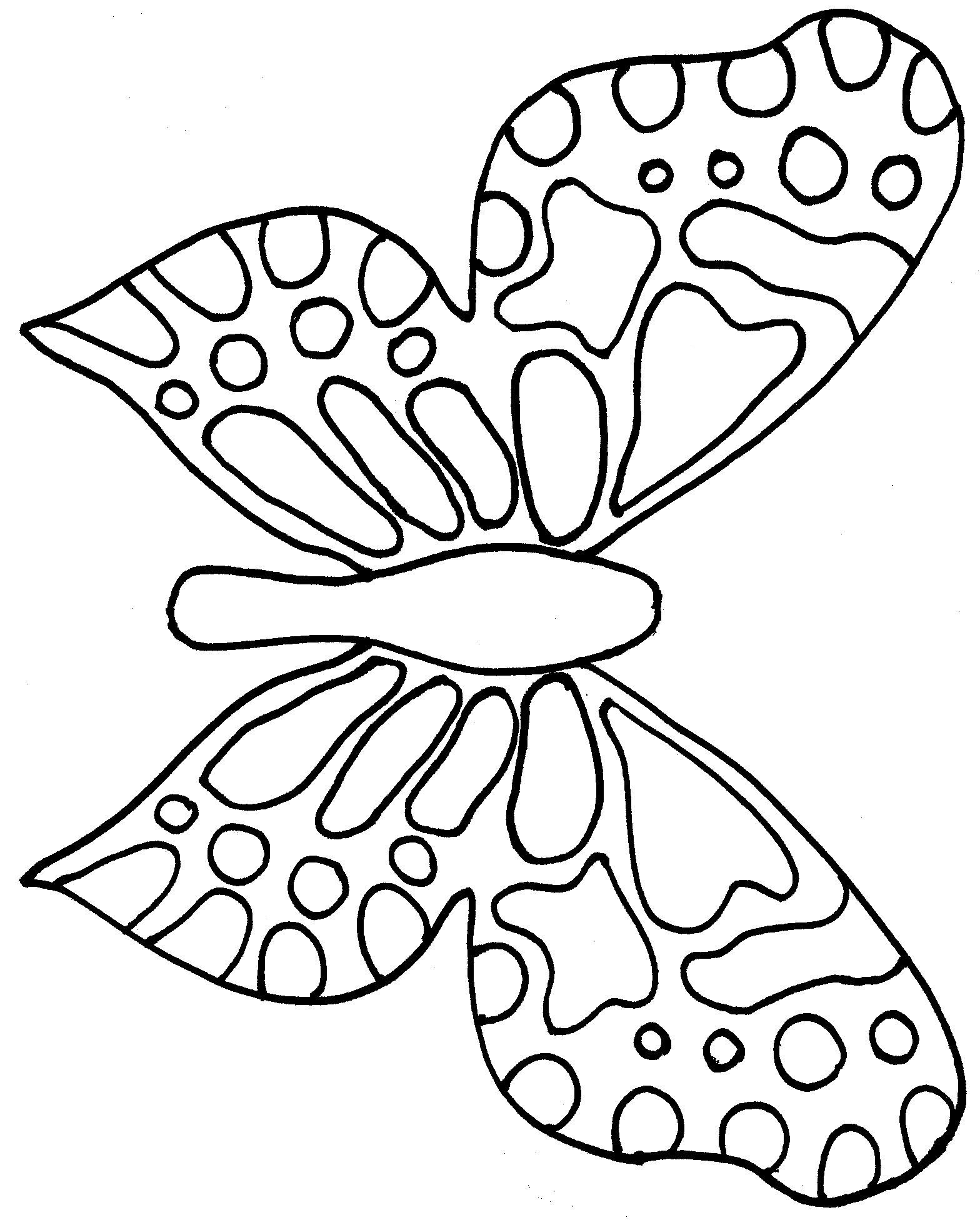 Monarch Butterfly Mask Template