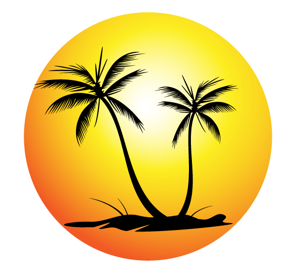 Palm Tree Silhouettes Vector Free | 123Freevectors