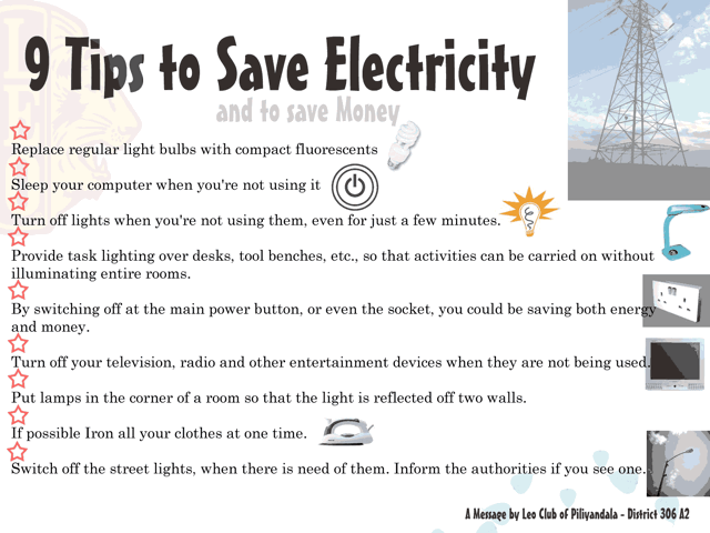 Save Electricity - Cliparts.co