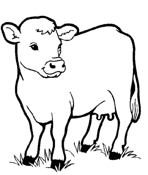 cartoon barnyard coloring pages-#23