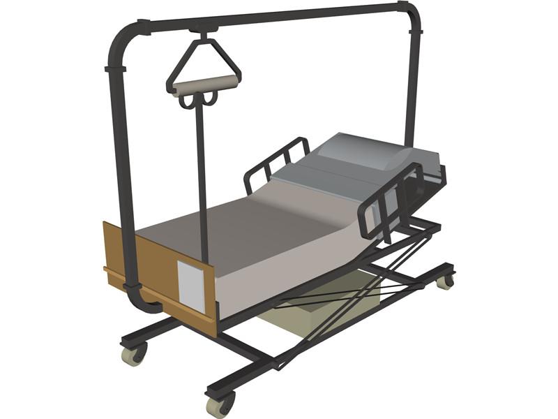 Hospital Bed Clipart Hospital Bed 3d Model Download