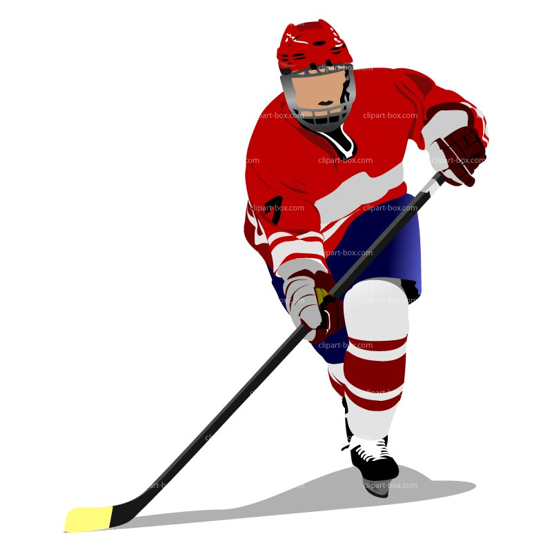 how to draw a watching hockey player in cartoon