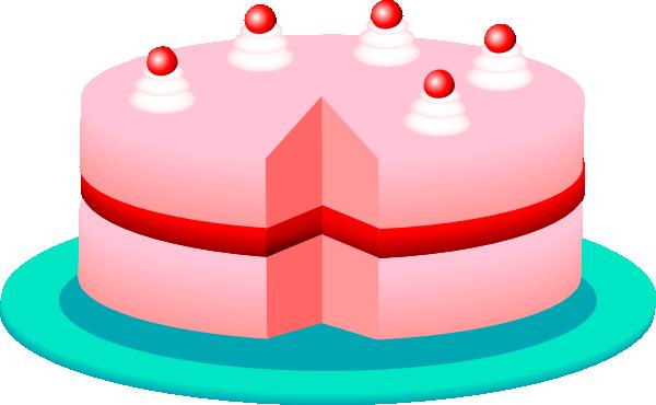 Pink Cake clip art - vector clip art online, royalty free & public ...