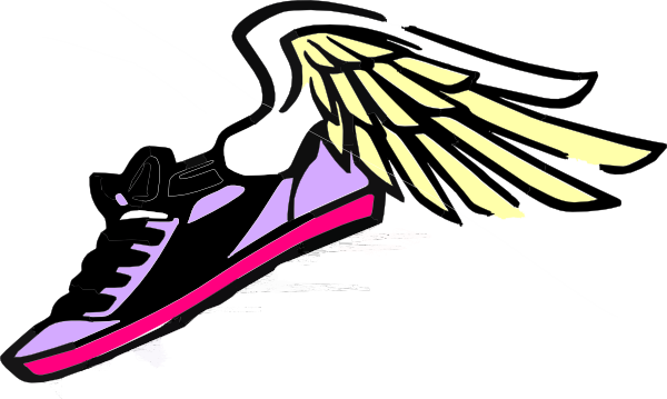 Running Shoe With Wings Purple/pink clip art - vector clip art ...