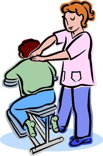 Massage pictures clip art free for Chair massage