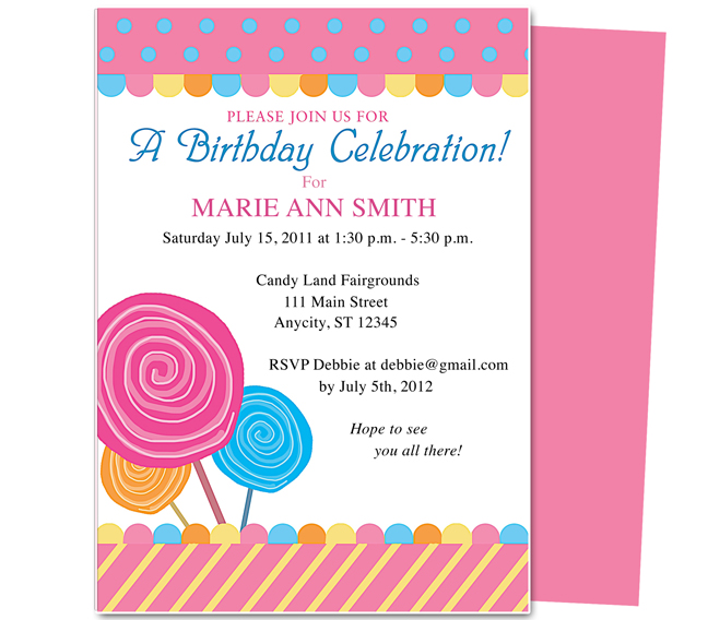 Birthday Invitations Template Wblqualcom - Microsoft word birthday invitation templates