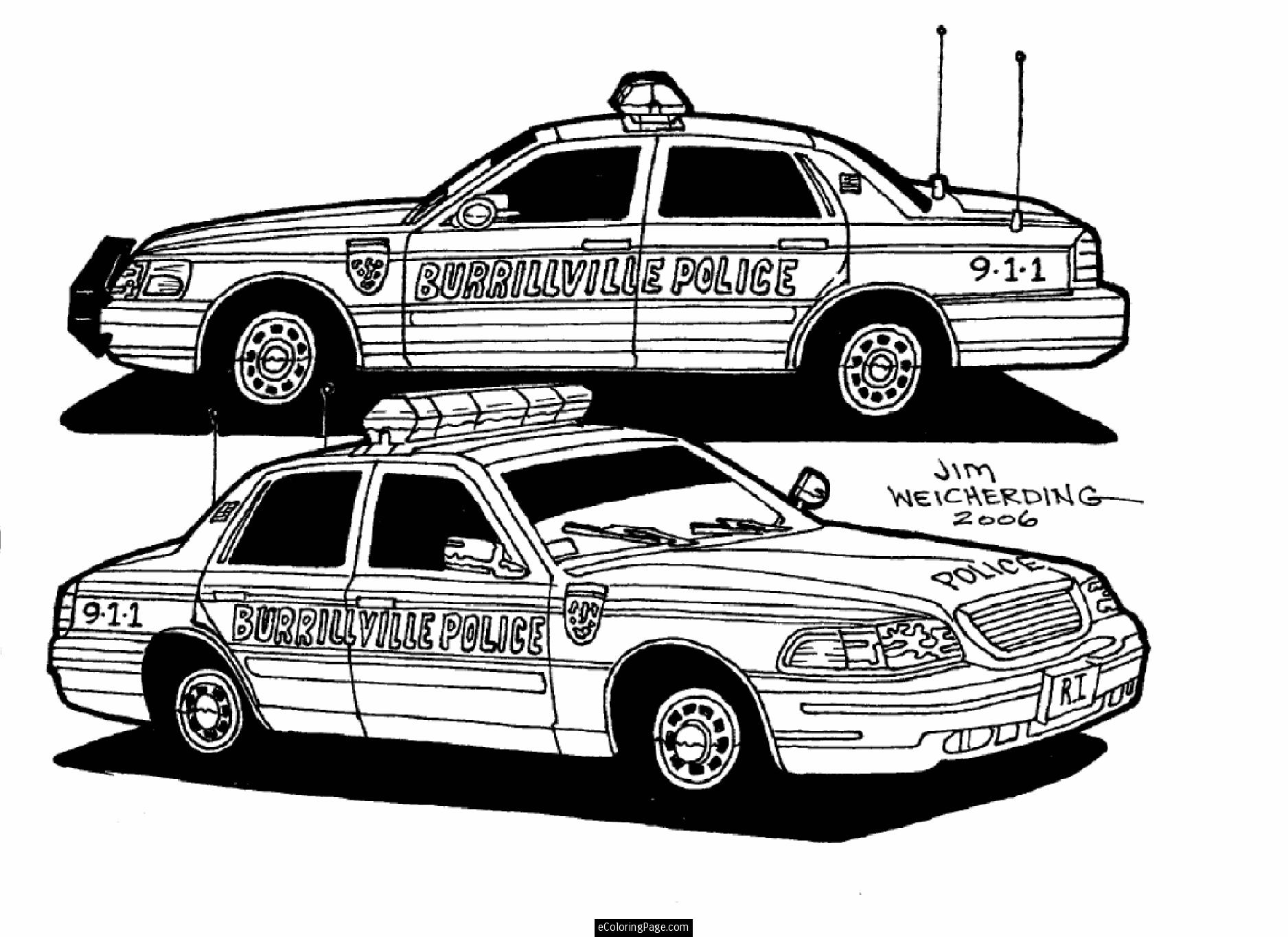 Police suv coloring pages
