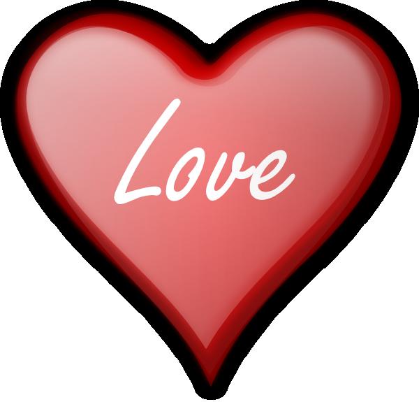 Love Heart clip art - vector clip art online, royalty free ...