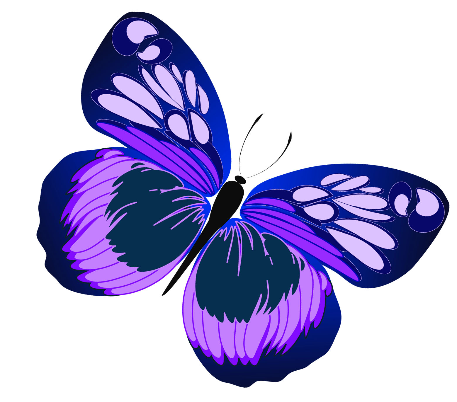 purple butterfly clipart clipartsco