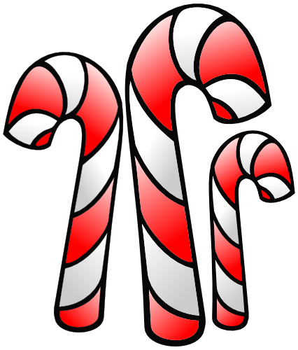 Watch more like Candy Cane Outline Clip Art