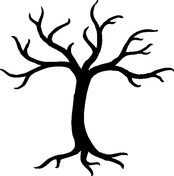 Bare Tree clip art - vector Scary Tree Silhouette Clip Art