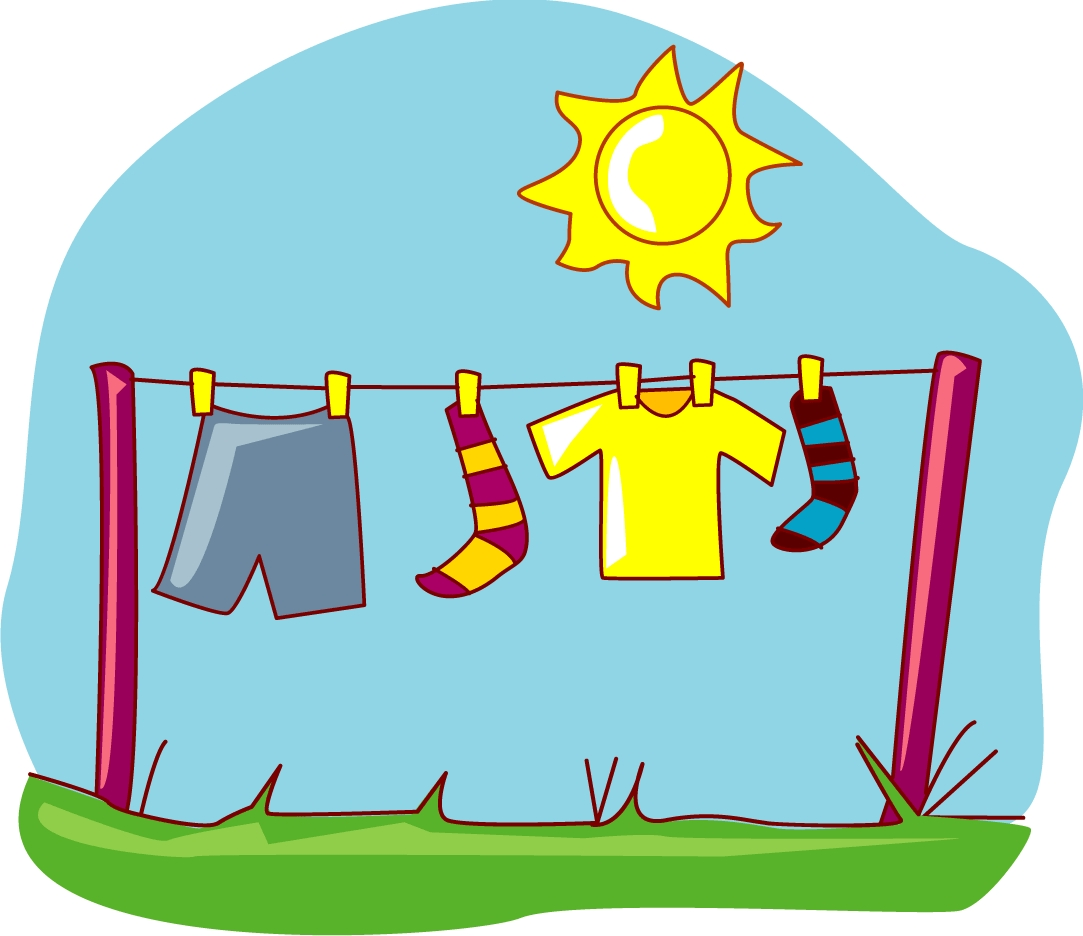 clipart hanging clothes - photo #7