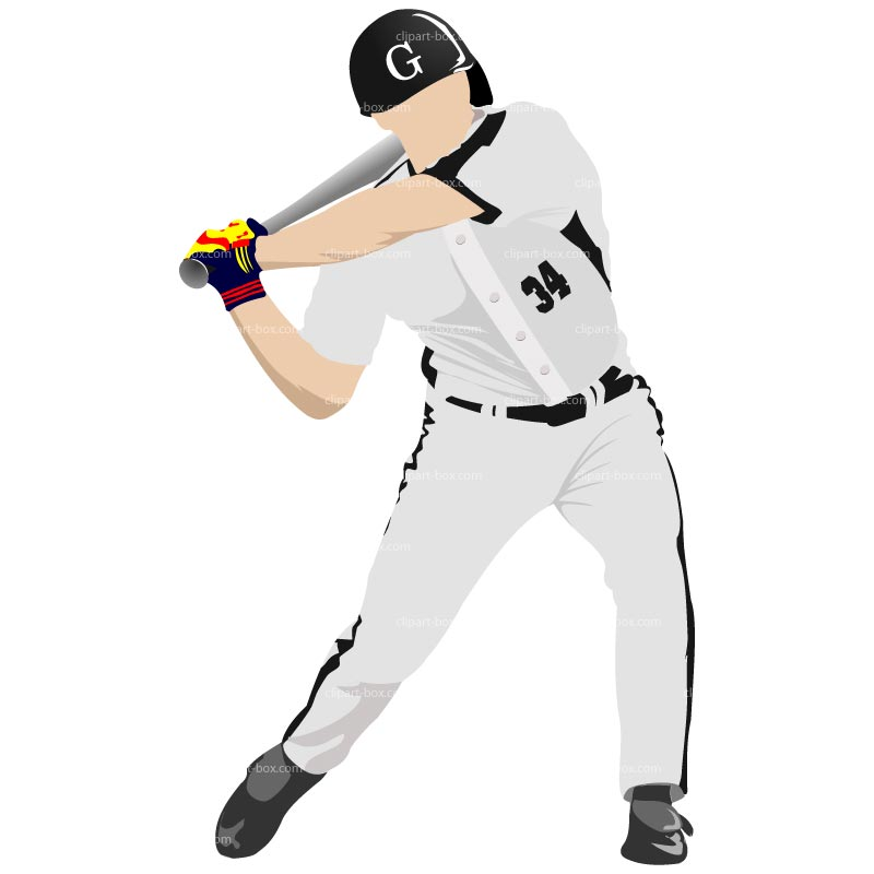 Baseball Player Running Clipart
