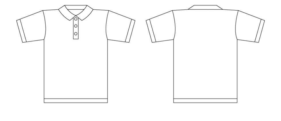collar t shirt template illustrator