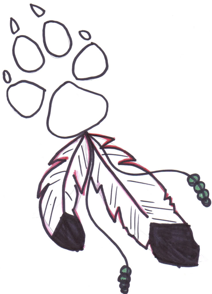 Free A Wolf Paw Print Coloring Pages