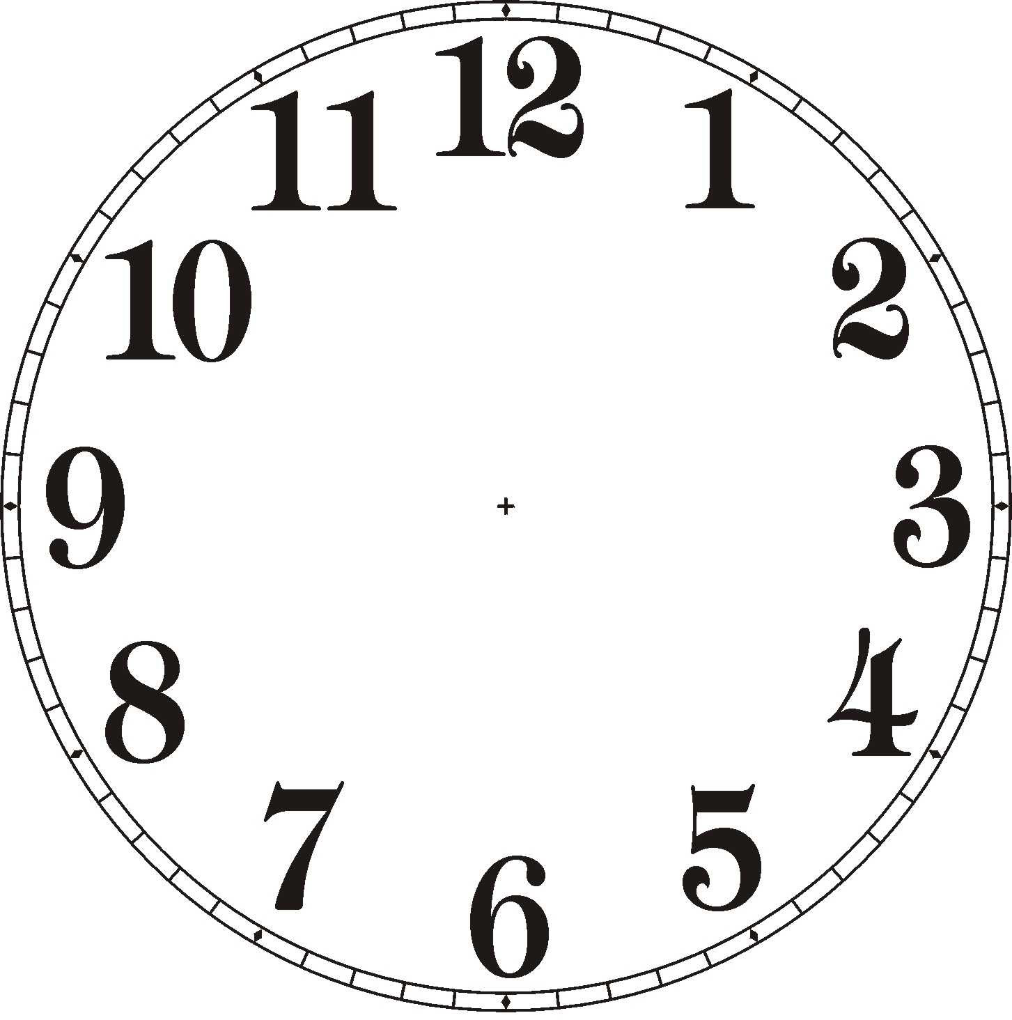 Terrible image throughout printable clock face with hands