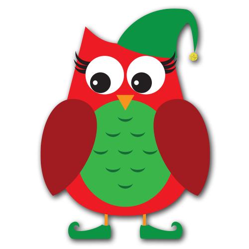 Christmas Owl Clip Art - Cliparts.co