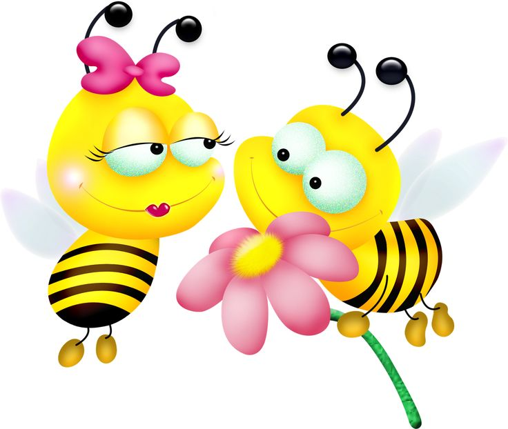 Yellow bumble bees boy and girl clip art | Clip Art Everyday for Card ...