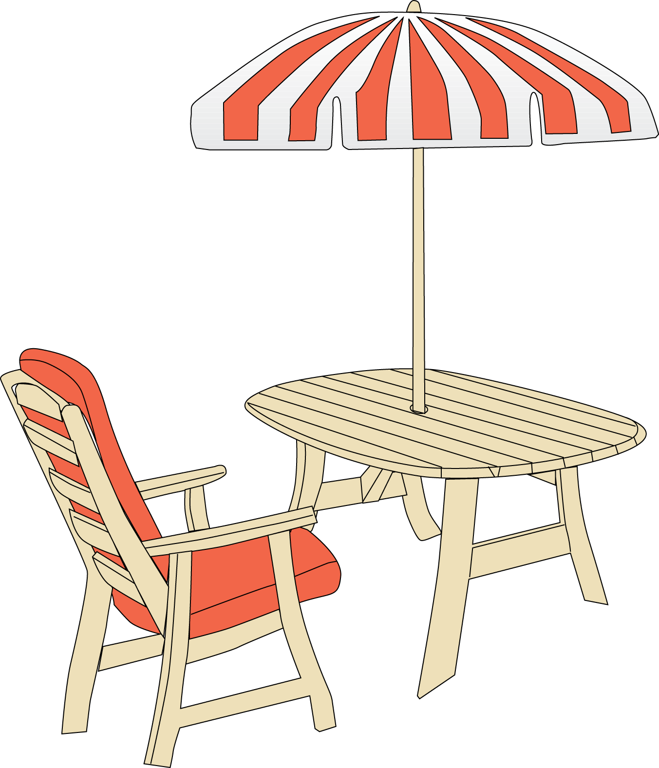free clip art patio furniture - photo #3