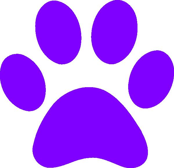 Light Purple Paw Print clip art - vector clip art online, royalty ...