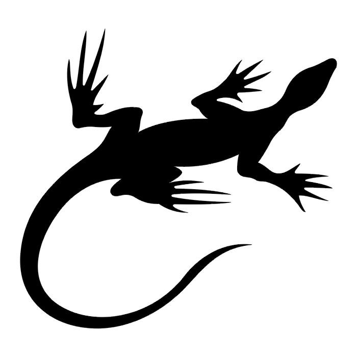 Gecko Lizard Glitter Tattoo Stencil