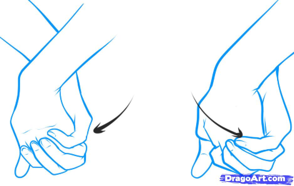 Drawing Of People Holding Hands Cliparts Co