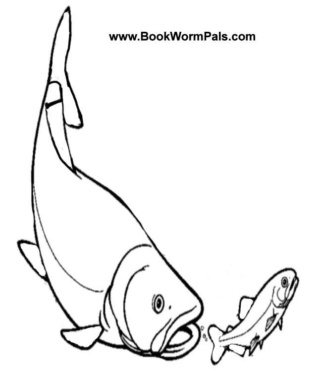 fish mouth template - bass clip art