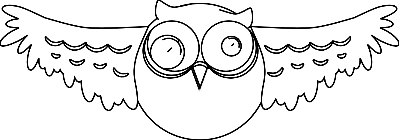 cartoon owl black white line art drawing scalable vector graphics ...