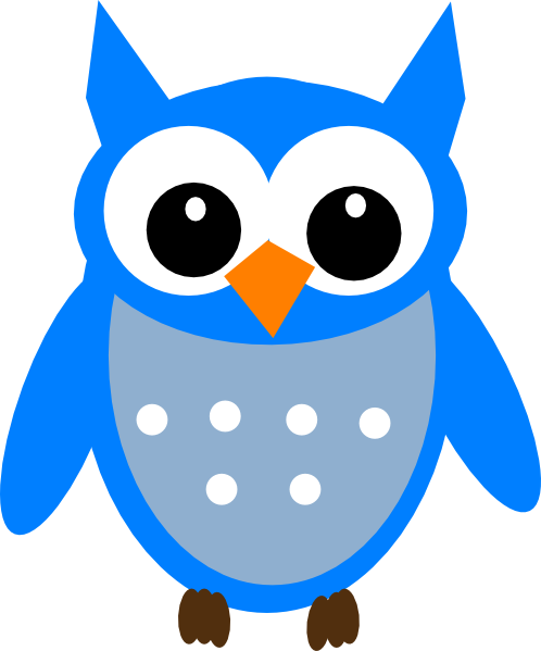 Free Blue Cartoon Hoot Owl Clip Art - ClipArt Best - ClipArt Best