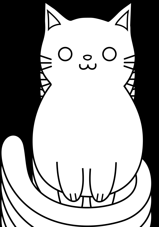 Kitten drawing outline