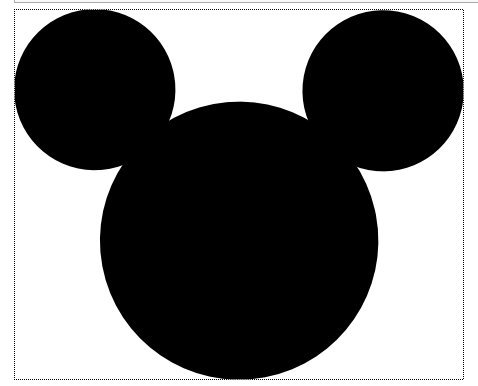 graphic relating to Free Printable Mickey Mouse Head Template titled Printable Mickey Mouse Mind -