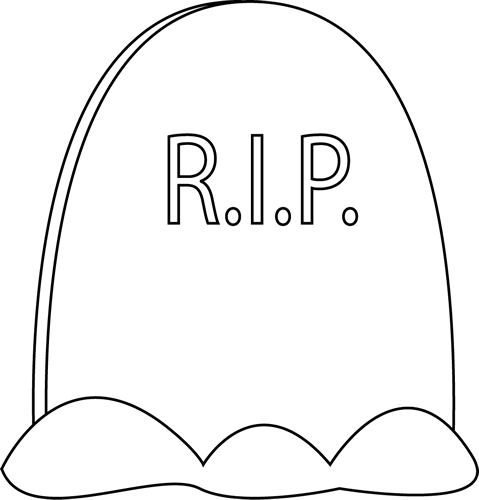how to draw a gravestone clipartsco