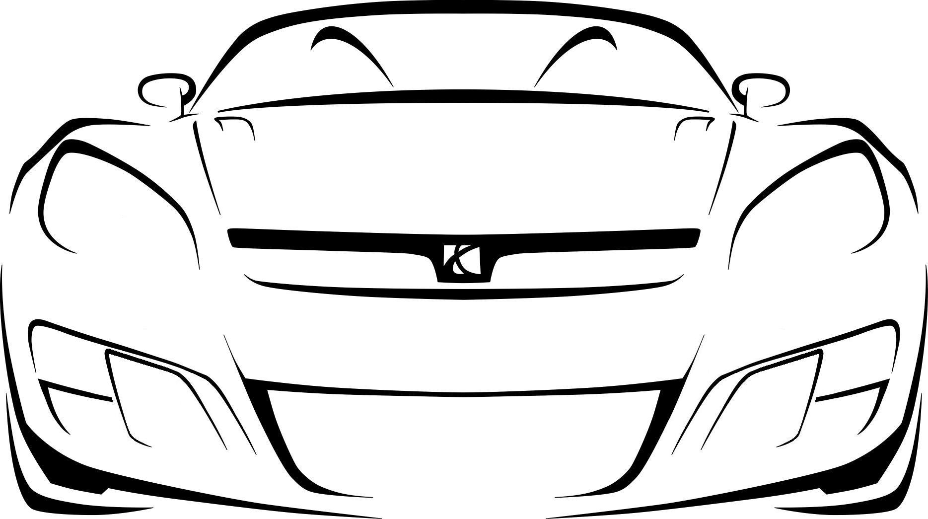 Race Car Outline - Cliparts.co