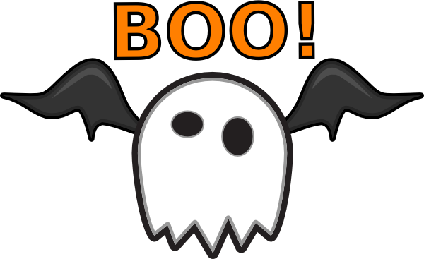 Ghost Saying Boo! clip art - vector clip art online, royalty free ...