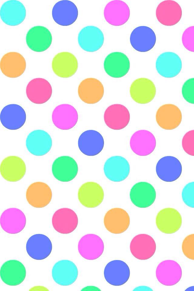 rainbow polka dot wallpaper clipartsco