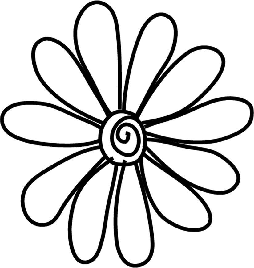 Daisy Flower Line Drawing : Daisy template cliparts