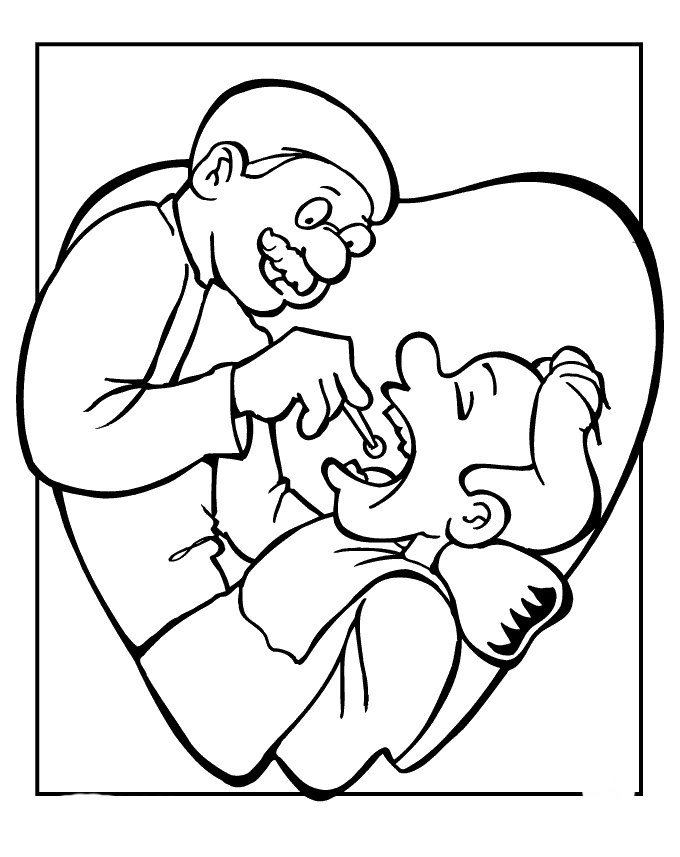 of oral hygiene Colouring Pages (page 2)