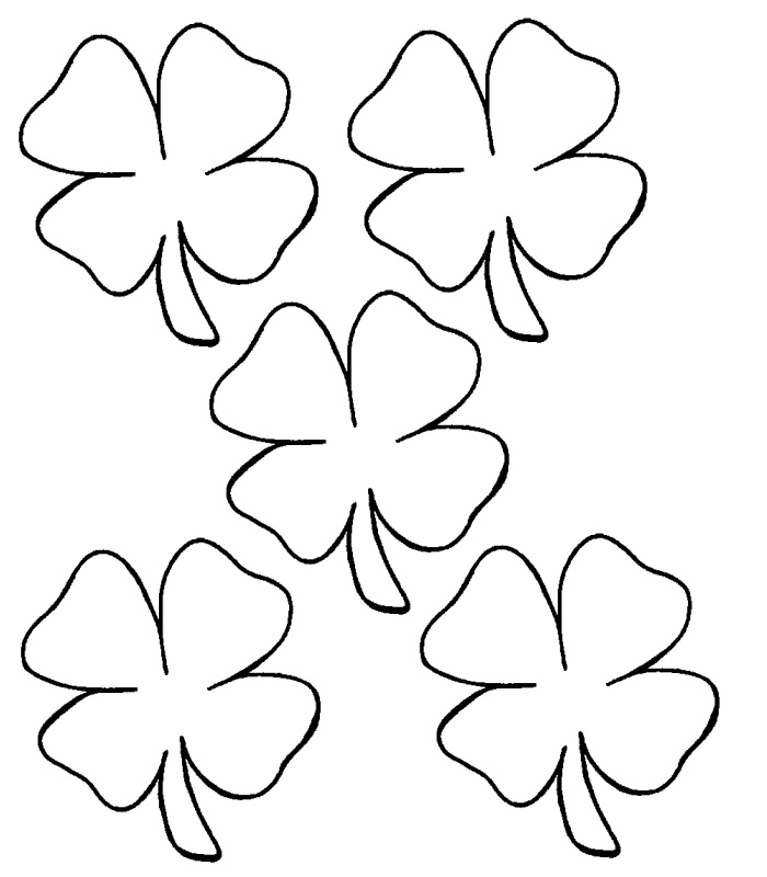 four leaf clover coloring page st patricks day crafts | yooall ...