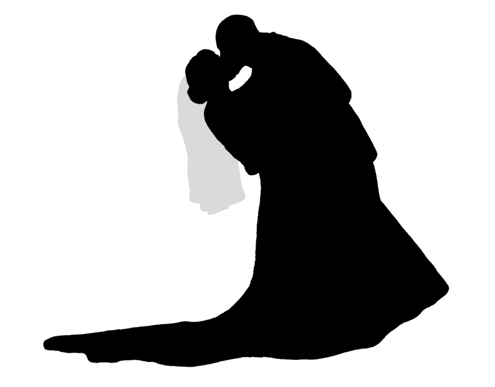 free wedding silhouette clip art - photo #28