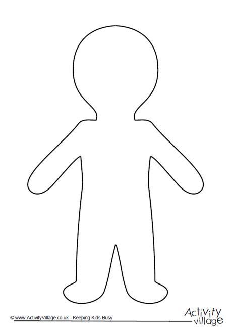 printable person template