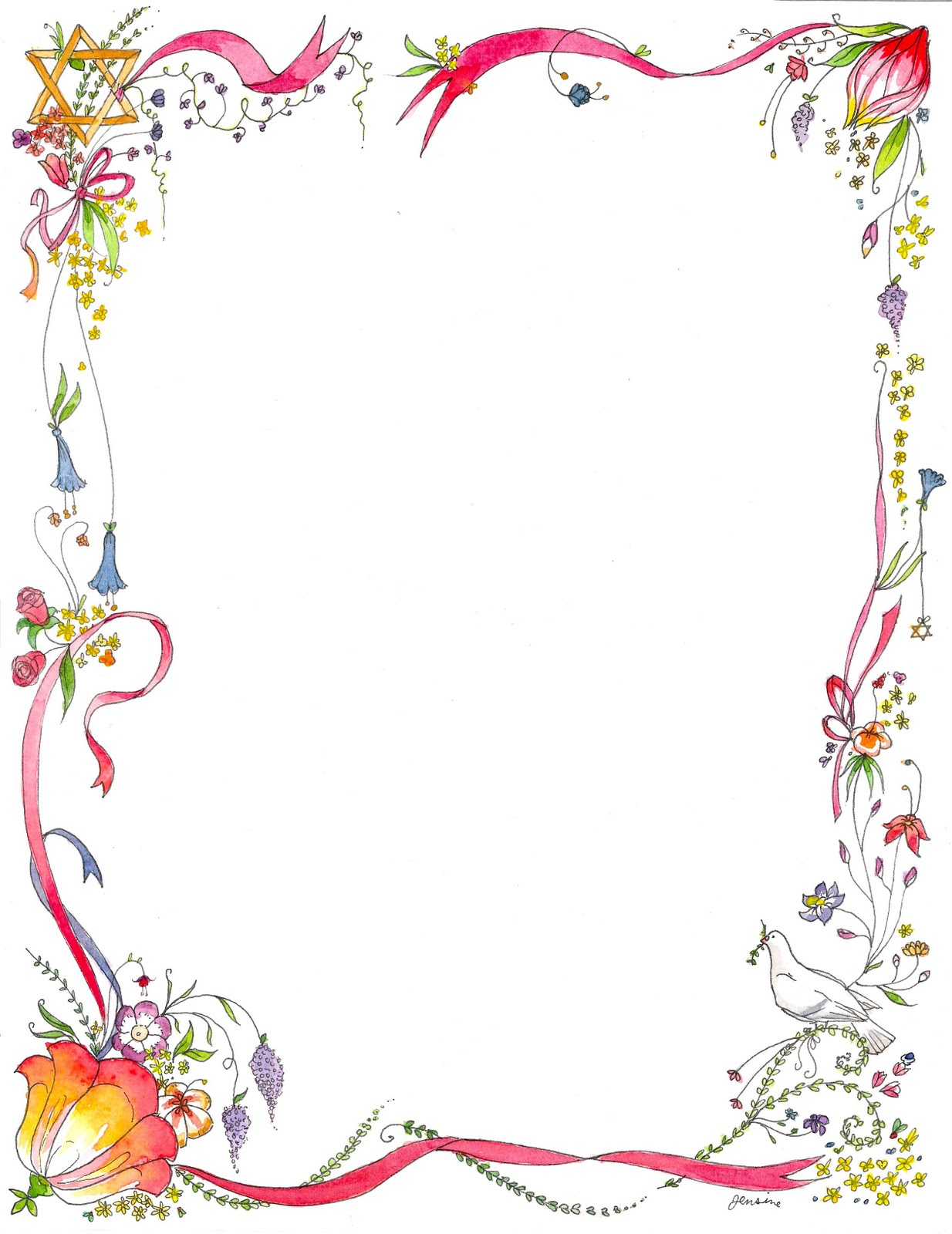Flower Border Designs - Cliparts.co
