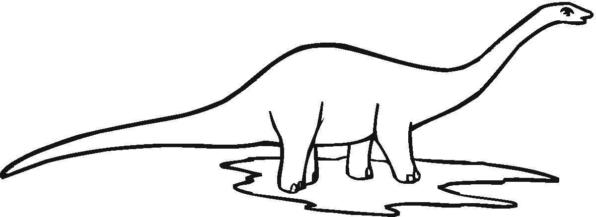 dinosaur clip art outline - photo #18