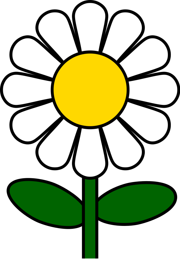 Daisy large 900pixel clipart, Daisy design