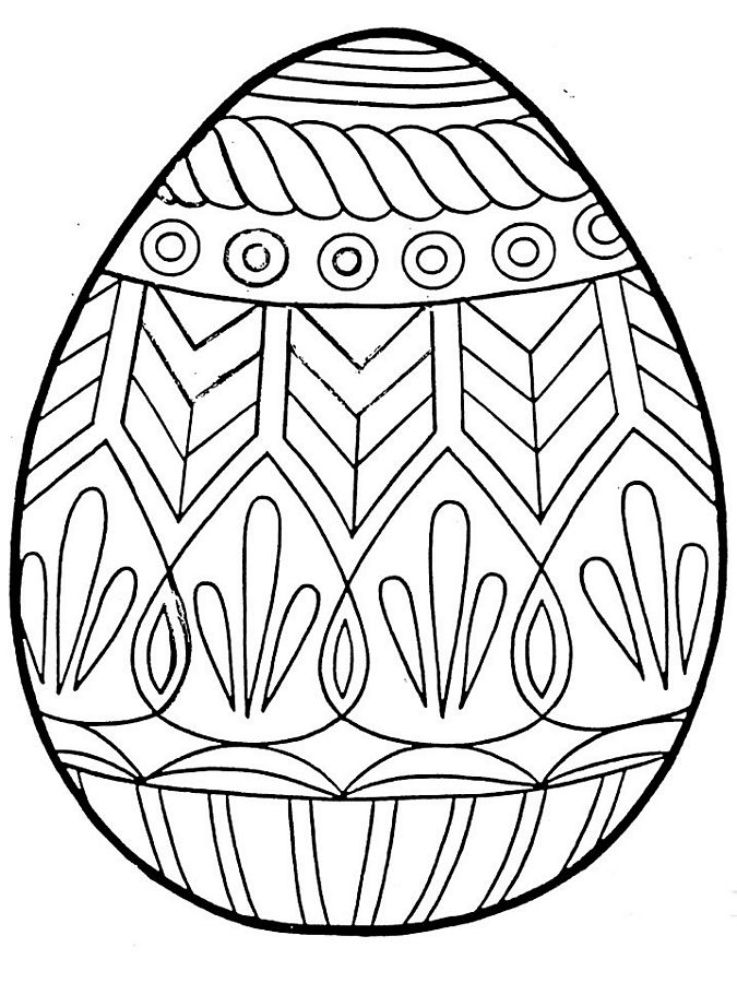 Easter Egg Coloring Pages 2014- Dr. Odd