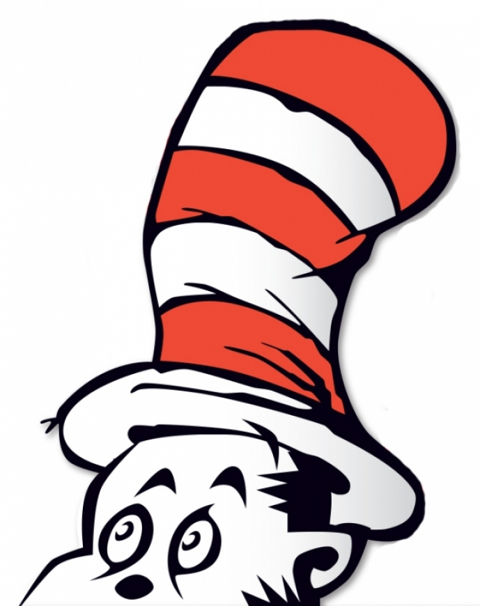 free clipart cat in the hat - photo #24