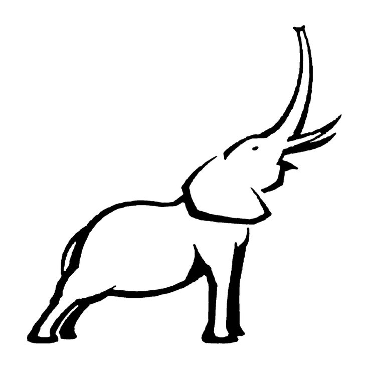 Elephant Stencil Trunk Up Elephant Outline  Tattoos